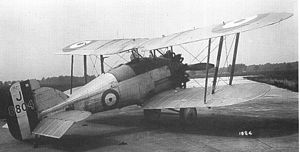 Gloster Gamecock - Gamecock fitted with outward-leaning struts in 1927