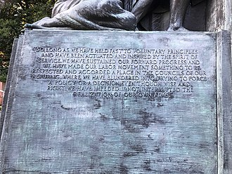 Samuel Gompers Memorial - Image: Gompers inscription SE