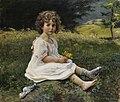Gottfried Hofer Mädchen auf einer Blumenwiese 1911.jpg