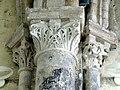 Gournay-en-Bray (76), collégiale St-Hildevert, collatéral nord du chœur, chapiteaux du 2e doubleau, côté nord.jpg