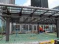 Government Center station entrance construction, June 2015.JPG