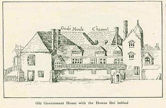 Southern Command (United Kingdom) - Government House, Grand Parade, Portsmouth, command headquarters from 1793 to 1826