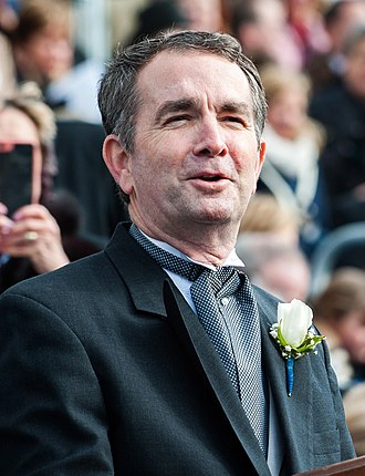 Governor of Virginia - Image: Governor Ralph Northam Gives Inaugural Address (39348612584) (cropped)