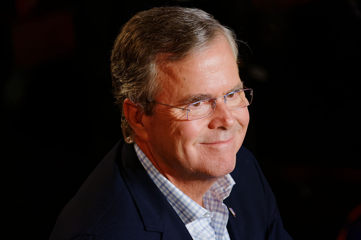 Governor of Florida Jeb Bush, Announcement Tour and Town Hall, Adams Opera House, Derry, New Hampshire by Michael Vadon 01.jpg