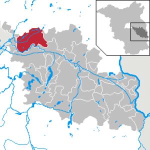 Grünheide (Mark) - Image: Grünheide (Mark) in LOS