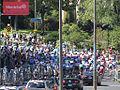 Grand Prix Cycliste de Montréal 2011, Peloton - Base of Mont Royal climb (6141716360).jpg