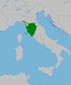 Le Grand-Duché de Toscane de 1815 à 1847.