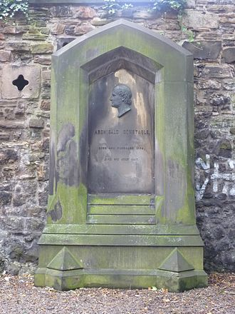 Archibald Constable - Constable's grave in the Old Calton Burying Ground in Edinburgh