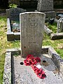 Gravestone of Pilot Officer Denis Potter Smith of Royal Air Force Volunteer Reserve at Llanishen Cemetery, May 2020.jpg
