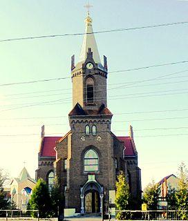 Boryslav City in Lviv Oblast, Ukraine