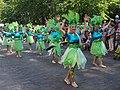 Green samba dancers from Samba Tropical at Helsinki Samba Carnaval 2019.jpg