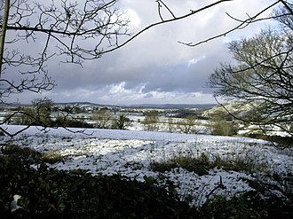 Grindon, Staffordshire - Image: Grindon view north snow