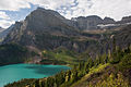 Grinnell Lake from Grinnell Glacier Trail (4119265691).jpg