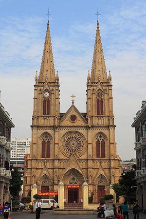 Sacred Heart Cathedral (Guangzhou) - Image: Guangzhou Shishi Shengxin Dajiaotang 2012.11.15 10 46 30