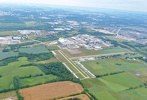 Guelph Airport - Guelph Airport looking west towards the city