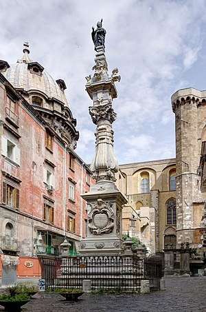 Januarius - The spire of the Cattedrale di San Gennaro (Naples Cathedral)