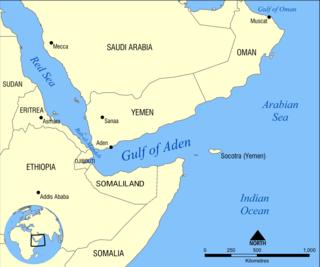 Gulf of Aden A gulf between the Horn of Africa and Yemen in the Arabian Peninsula