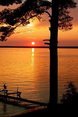 Gull Lake (Cass County, Minnesota) - Gull Lake sunset, July 2008