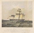 H.M.S. Dido under jury rig, returning to Tahiti, January 22nd 1856 - RMG PY0871.jpg