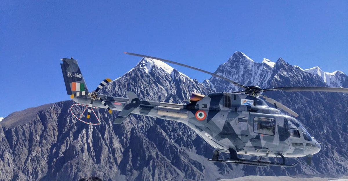 HAL LUH during high altitude trials