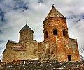 HDR shot of the Gergeti Trinity Church, Kazbek, Georgia (5709682587).jpg