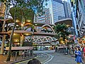 HK 銅鑼灣 Causeway Bay 糖街 Sugar Street evening view Yee Woo Street round Footbridge Mar-2013.JPG