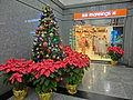 HK Central 88 Queen's Road 勵精中心 Regent Centre lift lobby interior Xmas tree Dec-2013.JPG