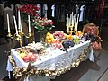HK Central Alexrandra House evening Dolce & Gabbana shop window dinner table in art 3-Dec-2012.JPG