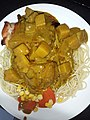 HK TKL 調景嶺 Tiu Keng Leng 明愛專上學院 CIHE Grove Cafe canteen restaurant Lunch food 咖喱雞扒 Curry Chicken Steak 碟頭飯 white plate spaghetti June 2019 SSG 04.jpg