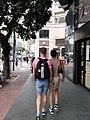 HK Wan Chai Johnston Road April 2021 SS2 two men walking together.jpg