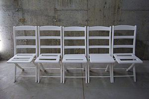 Helmut Lang (artist) - Front Row (2009), sculpture commissioned by the Deste Foundation for Contemporary Art, Athens