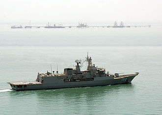 Anzac-class frigate - Anzac operating near the Iraqi Khor Al Amaya Oil Terminal in 2007