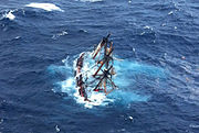 HMS Bounty submerged