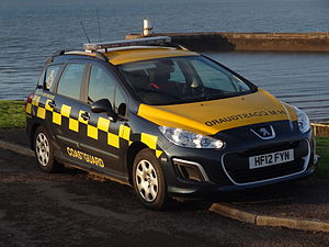Her Majesty's Coastguard - A 2012 Peugeot 308 estate at Whitehaven