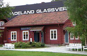 Hadeland Glassverk - One of the small merchandise shops at Hadeland Glassverk