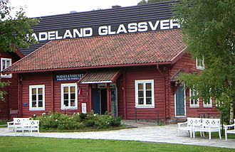 Hadeland Glassverk - One of the small merchandise shops at Hadeland Glassverk