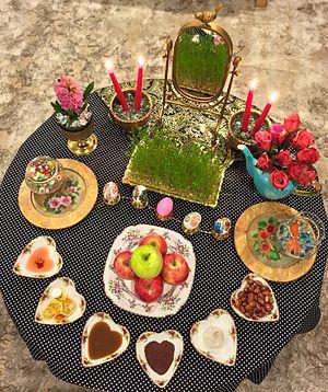 Haft-Seen - Haft Seen traditional table of Nowruz