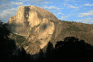 {{w|Half Dome}} at sunset