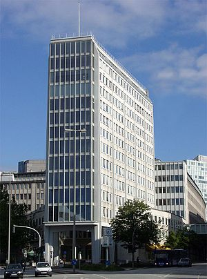 The Axel-Springer-Building in Hamburg, Germany.