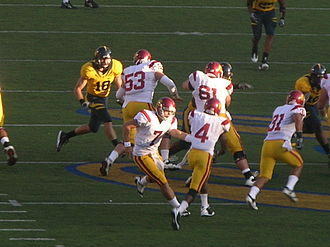 Joe McKnight - McKnight (no. 4) takes the handoff from Matt Barkley during an October 2009 matchup against California.