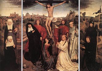 Women at the crucifixion - Hans Memeling - group at the foot of the cross