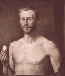 Hans Thoma - Bildnis Julius Langbehn (Der Philosoph mit dem Ei), 1906.png