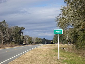Madison County, Florida - Hanson on State Road 145