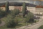 Harald Bertrand - Karl Johans gate med Eidsvolls plass - 1883 - Oslo Museum - OB.01083.jpg