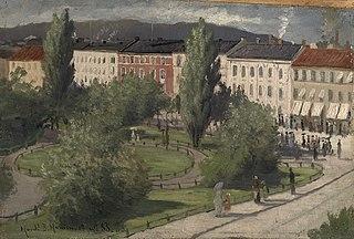 Karl Johans gate med Eidsvolls plass