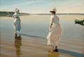 Harald Slott-Møller - Fjordlandskab med to unge kvinder, der sopper - 1888.png