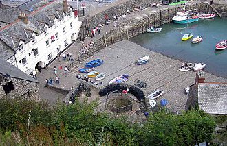 Harbor - The tiny harbor at the village of Clovelly, Devon, England