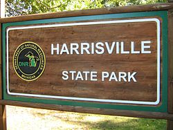 Harrisville state park sign back entrance.jpg