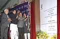 Harsh Vardhan laying the foundation stone for 220KV Substation, at Pappankalan, in New Delhi. The Minister of State (Independent Charge) for Power, Coal and New and Renewable Energy, Shri Piyush Goyal is also seen.jpg