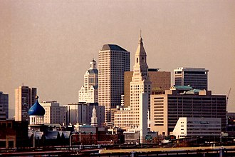 """Economy of New England - Hartford, known as the """"Insurance Capital of the World"""""""